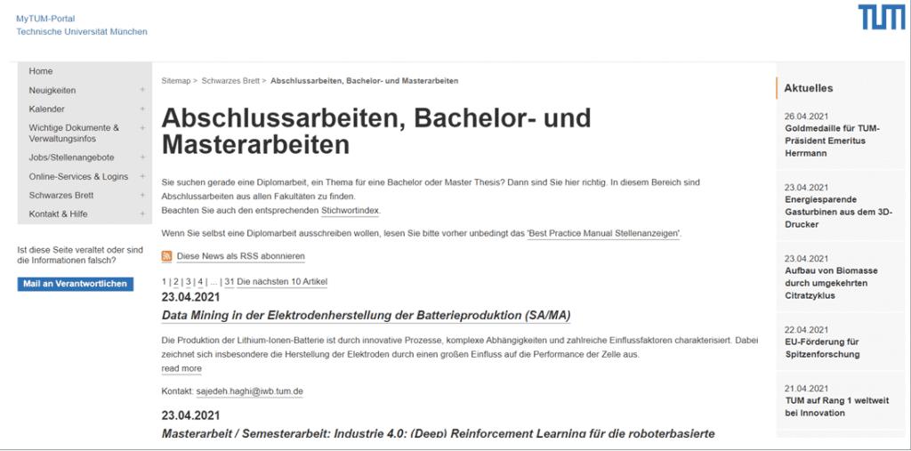 Hier ein Beispiel der Technischen Universität München